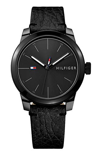 Tommy Hilfiger Herren Datum klassisch Quarz Uhr mit Leder Armband 1791384 (Tommy Reloj Männer Hilfiger)