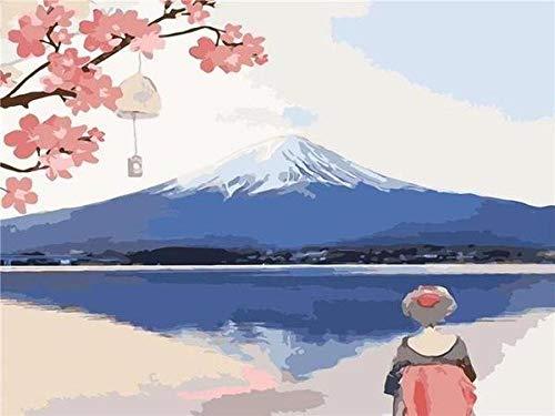 Diy Pintura Japón Monte Fuji Anime Pintura Por Números