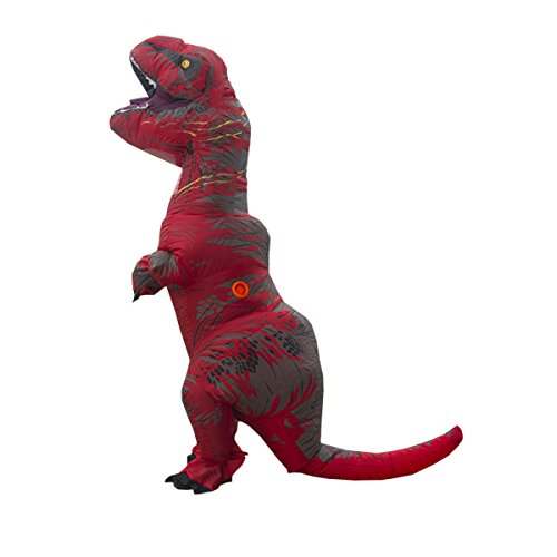Nihiug Jurassic Tyrannosaurus Rex Aufblasbare Anzug Erwachsene Kinder Lustige Gesellschaft Bar Performance Kostüm Cos Requisiten Halloween Classic (Requisiten Eigene Halloween)