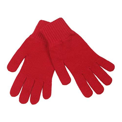 LOVARZI Rot Frauenhandschuhe aus Wolle Wolle Winterhandschuhe - Geschenke für Ihn