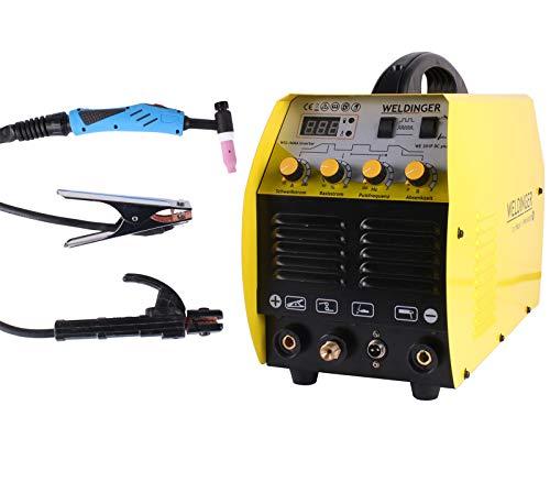 WELDINGER WIG-Schweißgerät WE 201P DC - HF gezündet 200A (Elektroden...