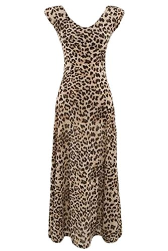 E-Girl Deman Leopard SY6278 Langes Kleid Leopard