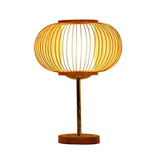 Lampe De Table En Bambou, Bois Massif Creative Lampe De Chevet Protection Des Yeux Lampe De Bureau Chambre À Coucher Étude Salon Lampe De Table Décorative Interrupteur Bouton (Taille: 25 * 10 * 35 Cm)