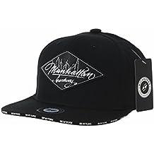 WITHMOONS Gorras de béisbol Gorra de Trucker Sombrero de Snapback Hat  Diamond Faux Leather Patch Flat 576e356289d