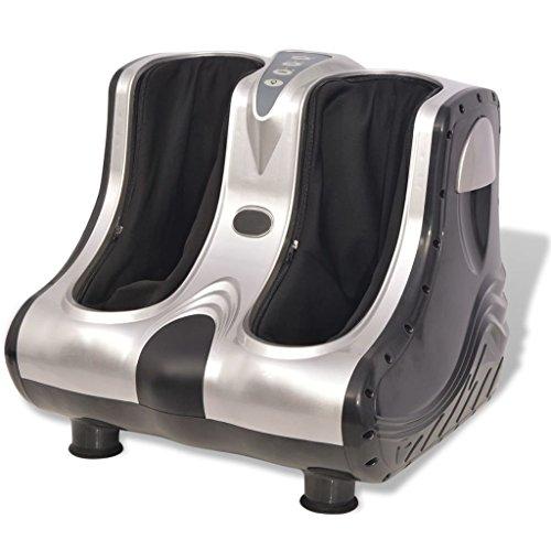 vidaXL Shiatsu Fuß- und Wadenmassagegerät Fußmassagegerät Massagegerät Silber -