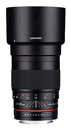 Samyang F1112203101 - Objetivo fotográfico DSLR para Nikon F Ae (Distancia Focal Fija 135mm, Apertura f/2-22 ED UMC, diámetro Filtro: 77mm), Negro