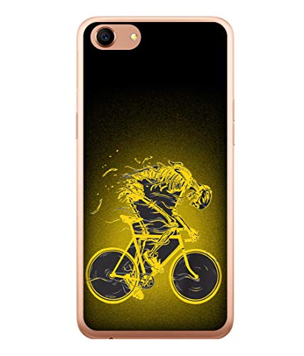 Tivesh Amazing Designer Back Case Cover for Oppo F3 with The Unique Design of Bycycle Fast Running Printed Back coverWith The Beautiful Multicolor Colour