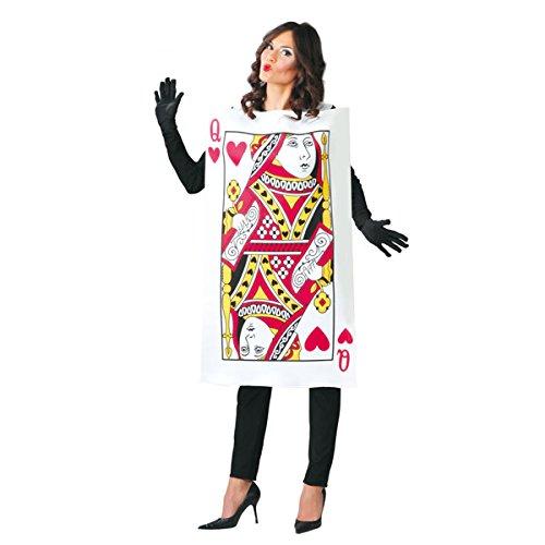 Imagen de disfraz de carta de reina de corazones para adultos