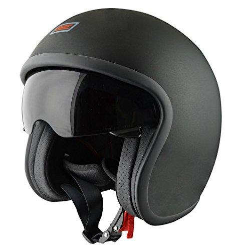 Origine Helmets Casco, Nero Opaco/Arancione, S