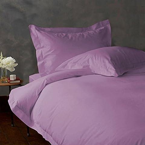 Almohada -4PC 550TC Italian acabado Lavanda color sólido almohada de cuerpo entero Tamaño (32