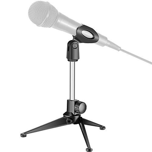 Neewer Universal Tisch Mikrofonständer mit Mikrofonklammer, kompatibel mit normalgroßen Handmikrofonen wie Sm57 Sm58 Sm86 Sm87 für Online Chat Podcasts Konferenzen Vorlesungen usw.