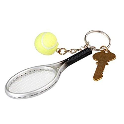 CDKJ Llavero de Raqueta de Tenis