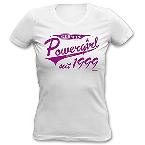 Mädchen T-Shirt zum 18. Geburtstag German Powergirl seit 1999 Geschenk zum 18. Geburtstag 18 Jahre Geburtstagsgeschenk Mädchenshirt