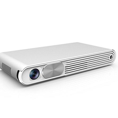 Foto de XUYAN Mini Proyector Portátil Smart Beam Teléfono Móvil DLP HD 1080P Pico Pocket LED Proyector MIAO,Silver