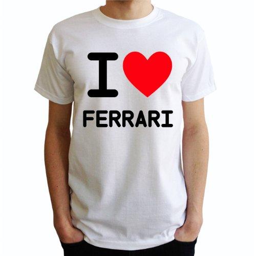 I love Ferrari Herren T-Shirt Weiß