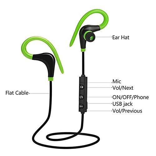 EqWong Kabellose Bluetooth-Kopfhörer, die besten für Sport, Nackenbügel oder Fitness-Workout. Wasserdichtes, schweißfestes und sicheres Headset. Noise Cancelling-Kopfhörer mit Mikrofon - Läufer Headset