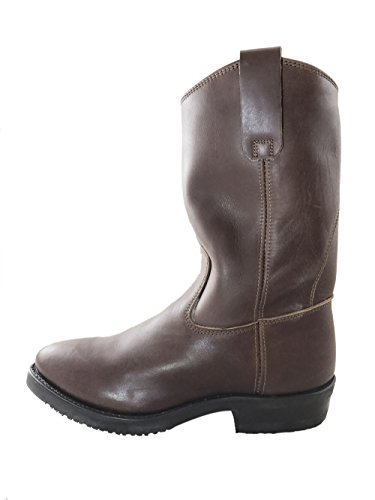 El Charro Men Vintage Leather Boots Rounded toe 2748 Brown brown