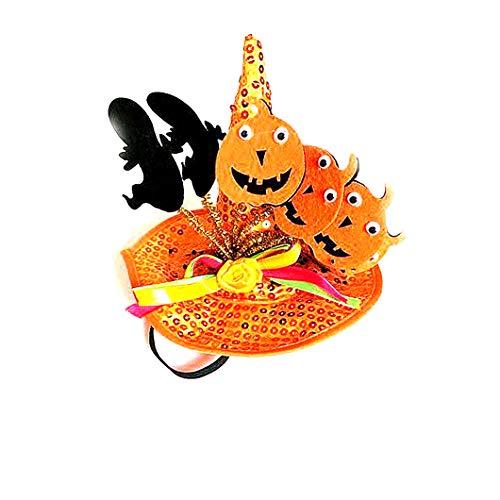 Beito Pet Cosplay Kürbis-Hut Hunde und Katzen-Hut-Halloween-Hut-Halloween-Dekoration (orange)