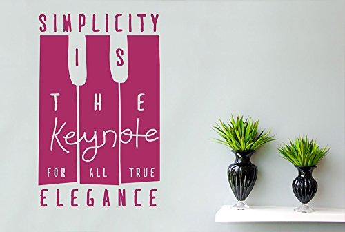 CUT IT OUT Coco Chanel Simplicity ist die Keynote für alle True Eleganz Wandtattoo-Groß (Höhe 90cm x Breite 57cm) violett