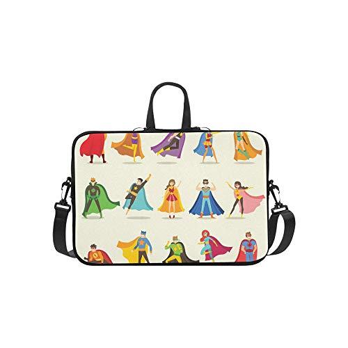 Nette Superheld Kinder Muster Aktentasche Laptoptasche Messenger Schulter Arbeitstasche Crossbody Handtasche Für ()