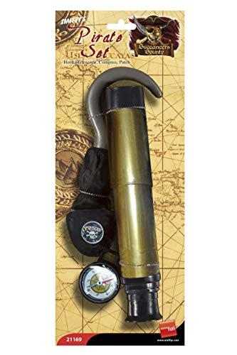n Teleskop Kompass und Augenklappe, One Size ()