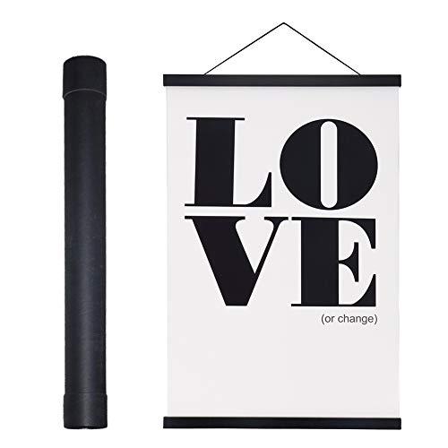 Benjia Magnetisch Posterschiene, Magnet Magnetische 61x91.5 Posterrahmen Holz Posterleiste Posterhänger für drucken Kunstwerk (61cm, Schwarz)