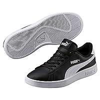 Puma Kadın Smash V2 L Jr Spor Ayakkabı, Siyah/Beyaz