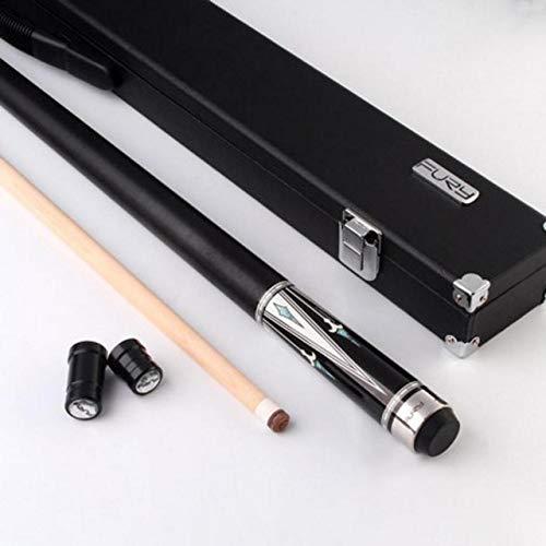 British Knights 2-teilige Handgemachte Pool Cue Stick Mit Fall Hart Billard Cue Kit 11,75mm 13mm Tipps Leder/leinen Faden 13mm Hellgelb -