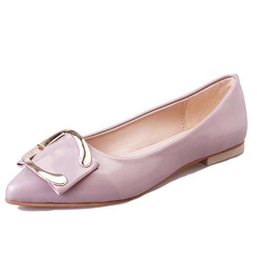 l'automne a fait plat casual chaussures/Élégant cuir pâle Lady chaussures de mode A