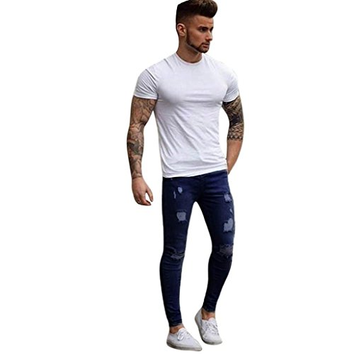 Männer Stretchy Ripped Skinny Jeans Slim Fit Denim Hosen von Sannysis 41XWA 2BKgMdL