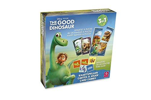 Cartamundi Disney Good Dinosaurier Happy Families, Puzzle und Speicherkarte Spiel-Set (Mehrfarbig)
