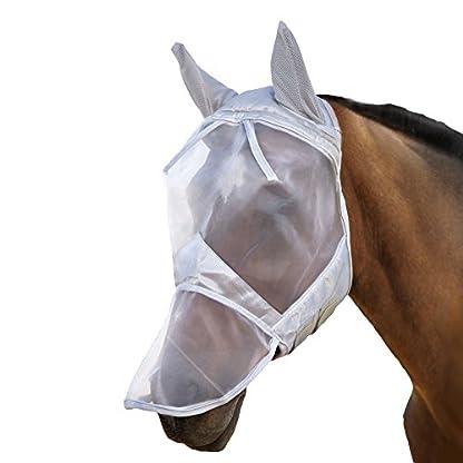 Harrison Howard CareMaster Fly Mask Full Face Moonlight Silver (S; Pony) 2