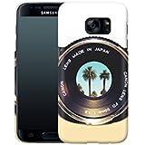 Handyhülle mit Fotografie-Design: Samsung Galaxy S7 Hülle / aus recyceltem PET / robuste Schutzhülle / Stylisches & umweltfreundliches Hard Case - S7 Hüllen: Focus on Palms von Bianca Green