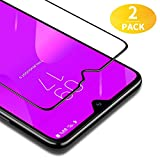 BANNIO [2 Stück] Panzerglas für Samsung Galaxy M20,Full Sreen Panzerglasfolie Schutzfolie für Samsung Galaxy M20,9H Härte,Leicht Anzubringen,Vollständige Abdeckung,Schwarz