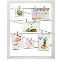 Dabuty Online, S.L. Marco para Pared Decoracion con Cuerdas para Colgar Fotos. Color Blanco