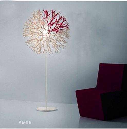 Nordic Korallen Wohnzimmer Schlafzimmer den Stehlampe moderne minimalistische Art und Weise kreativ künstlerische Persönlichkeit Angeln Lichter (Energieeffizienzklasse A +)