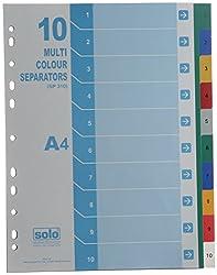 Solo SP 310 Separator / Divider (Set of 10) - Multi Colour A4 - Multi-Color