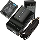 2 Battery , Charger for Sony Handycam DC...