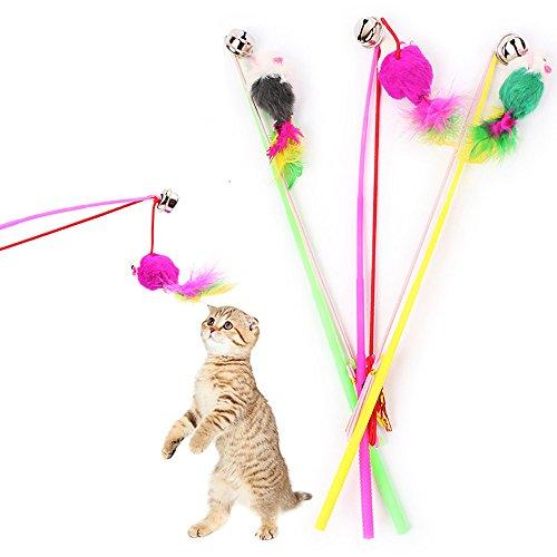 Fossrn 1PC Mascotas Juguetes Gatos interactivos Juguetes