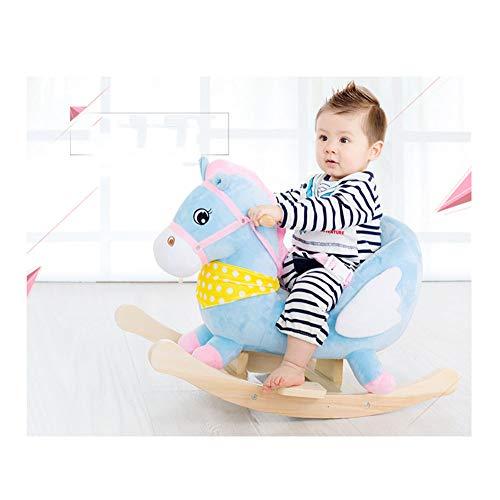 Qxmei recinzione staccabile a dondolo per bambini a dondolo da 1-3 anni regalo a dondolo per bambini,blue