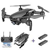 Tanli CYMARC X12 FPV RC Drone con cámara HD de 720p Helicóptero Quadcopter Negro con 2 baterías