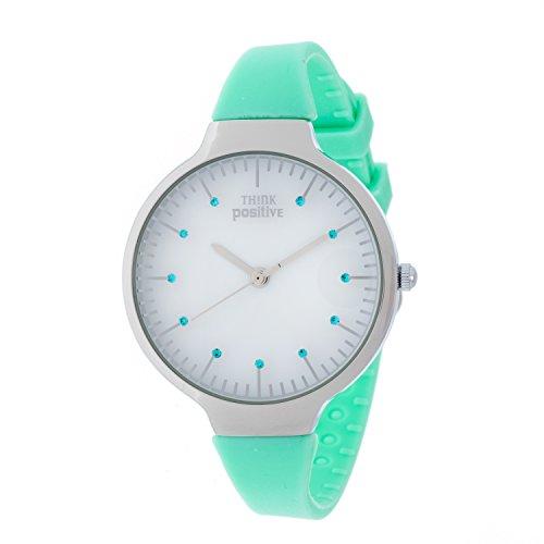 ladies-think-positive-model-se-w69-medium-steel-strap-of-silicone-color-aquamarine