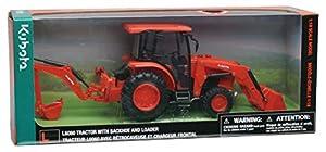 New Ray- Tractor Kubota con Godet y Pala (ligereza y Sonido) 1/18° -33123 SS Juguete