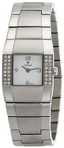 Titan Purple Analog White Dial Women's Watch - NC9887TM01