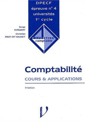 DPECF n° 4 Comptabilité. Cours & applications, 5ème édition