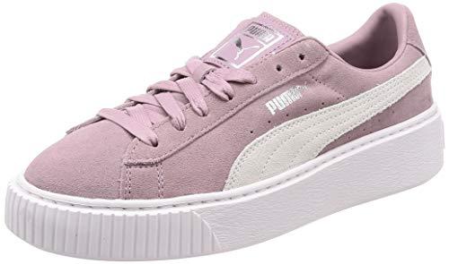 Puma Suede Platform, Damen Sneakers, Violett (Elderberry-Puma Silver), 42 EU (8 UK) (Suede Lila Puma)