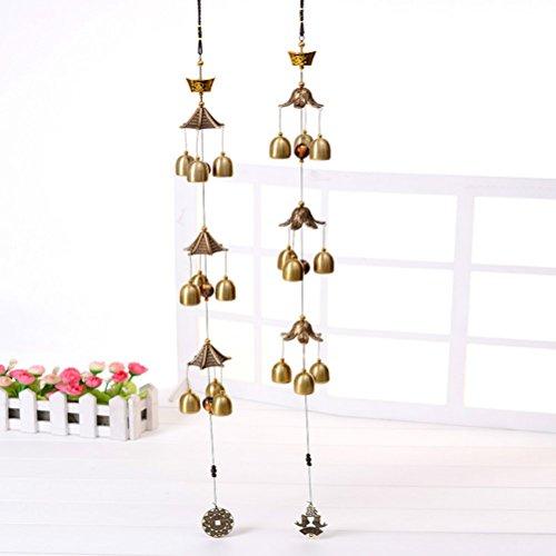 Große Wind Glocken Kupfer Wind Chimes Bell Outdoor Dekorationen Gute Glück Metall, damen Mädchen, Send Random