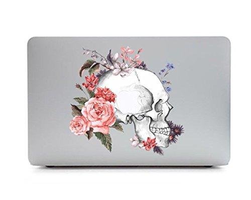 37 - Sticker Adhesivos para Macbook, Desprendibles Creativo Color Flores Dibujos Animados Art Calcomanía Pegatina para MacBook Pro/Air 13 Pulgadas Portátil CT-85 (Flor de Hueso)