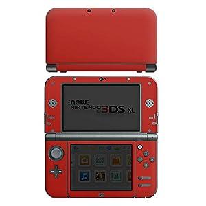 DeinDesign Skin kompatibel mit Nintendo New 3DS XL Folie Sticker Rot einfarbig Thermomixmotive