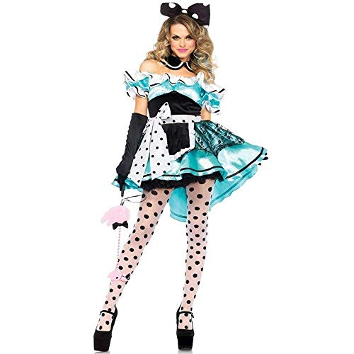 Fashion-Cos1 Halloween Frauen Maid Kostüm Cute Anime Cosplay Stage Show Kostüm Kopfbedeckungen (Size : XL) (Halloween Maid Make-up)